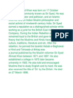 Sir Syed Ahmad Khan Was Born On
