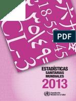 Estadisticas Sanitarias Mundiales OMS 2013