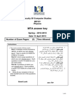 Ms101 MTA Form a Answer Key Spring2013 19032013