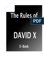 The Rules Of David X