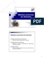 Aula 14_BROMATOLOGIA_Tipos Testes Sensoriais