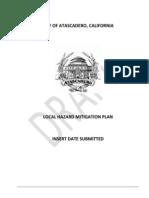 Atascadero's Local Hazard Mitigation Plan