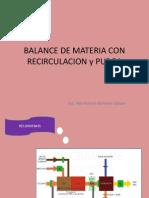 Balance de Materia Con Recirculacion y Purga