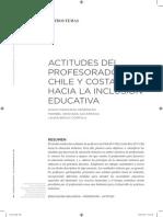 ACTITUDES DEL Profesorado de Chile y Costa Rica Hacia La Inclusion