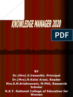 Knowledge Manager 2020
