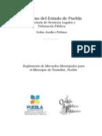 Teziutlan Reglamento de Mercados Municipales