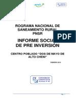 Informe Social de Proyecto de Agua Potable