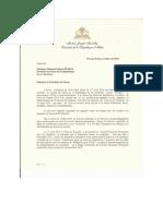 Correspondance responsive du Pre¦üsident de la Re¦üpublique au Pre¦üsident du Se¦ünat de la Re¦üpublique