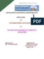 WASTE MANAGEMENT COMPANY ANALYSIS