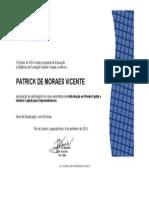 Introdução Ao Private Equity - FGV ( 40 Horas, Em 09-2013) - Patrick de Moraes Vicente - Araruama - RJ - Brasil