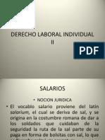 Derecho Laboral Individual II - Salarios