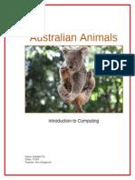 pik maddie australian animals text