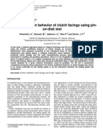 Friction Behavior of Clutch Facing Using Pin on-disk Test