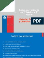 Presentaci n Bases Curriculareas 7 b Sico a 2 Medio Hist Ria Geograf a y Ciencias Sociales