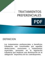TRATAMIENTOS PREFERENCIALES