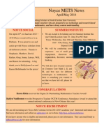 April/May 2014 newsletter
