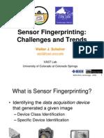 Sensors Fingerprinting