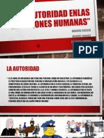 La Autoridad Enlas Relaciones Humanas