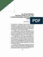 Bernardo Gandulla - El Politeísmo Monolátrico de Las Comunidades Gentilicias Hebreas