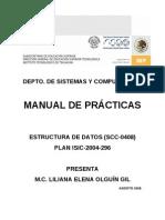 Manual de Practicas de Estructura de Datos