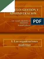 Org. Modernas, Adm Gral, Escuelas
