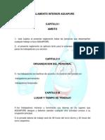 Reglamento Interior Aquapure