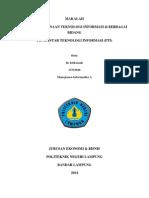 MAKALAH UTS Pengantar Teknologi Informasi Iis Istikomah 13753026