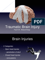 Psych 36 Traumatic Brain Injury Lecture Slides