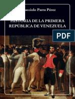 HISTORIA DE LA PRIMERA REPÚBLICA DE VENEZUELA.pdf