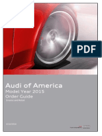 Audi Order Guide 2015 USA no pricing