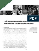 02 Politica Gestion Proteccion Salvaguardia Patrimonio Cultural