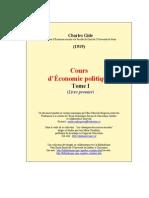Cours d'Économie Politique,GIDE Volume I