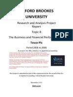Tesco Financial Analysis Rap 8