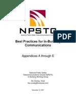 917811 InBuilding Wireless Communications Best Practices Appendices