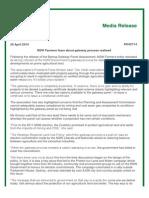 NSW Farmers media release 28 April 2014