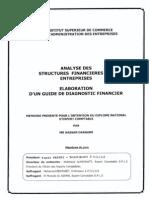 Analyse Des Structures Financières Des Entreprises