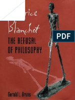 Gerald L. Bruns Maurice Blanchot the Refusal of Philosophy 1997