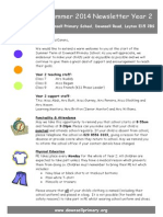 Year 2 Newsletter Summer 2014
