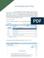 Manual de instruções para o blog