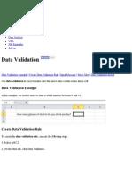 5 Excel Data Validation - Easy Excel Tutorial