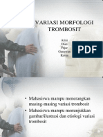 Variasi Morfologi Trombosit Jadi