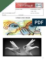 E-folio a Voz e Dicção Para Entrega (Guardado Automaticamente)
