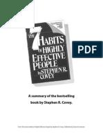 7 Habits Summary