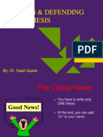 How to Write Ph.D Thesis