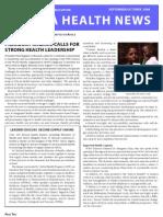 Africa Health News Sept-Oct 2009 FINAL