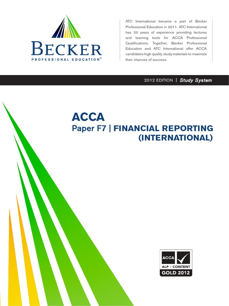 ACCA F7int ATC Study Text 2012   International Financial Reporting  Standards   Financial Statement