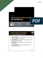 CE421 Lesson 8 Modeling - Trip Distribution