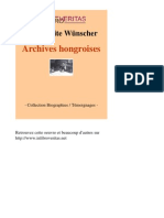 40878 MARGUERITE WUNSCHER Archives Hongroises [InLibroVeritas.net]