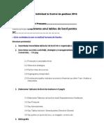 Proiect Individual Control de Gestiune 2014