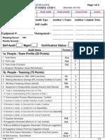 Autonomous Maintenance Step 1 Cert Format